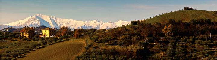 kleine camping villa bussola en de Monte Vettore